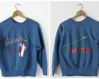 SMALL Vintage 1980s Animotion Obsessions Pullover Sweatshirt