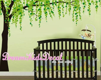 Tree Wall Decals-Cherry Blossom Tree Decal, Nursery Wall Sticker, Wall Decor, Home Decor-LARGE Murals
