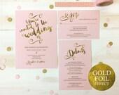 Wedding Invitation Template Wedding Invitation Wedding Invite Set Cheap Invitation Set Wedding Printable Instant Download PDF MM04