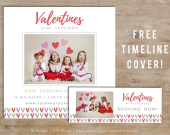 Valentines Day Mini Session Template - valentine mini sessions - photography marketing template - Valentine Template