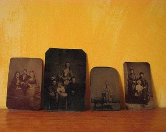 4 Vintage Tintype Photographs