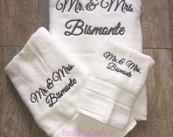 Personalized towel set 3 pieces
