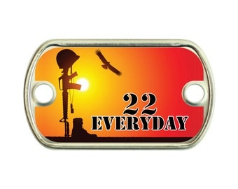 22 Everyday 2 Holes Stainless Steel Mini Dog Tag For Paracord Bracelets
