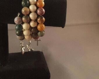 Earthly love memory wire bracelet