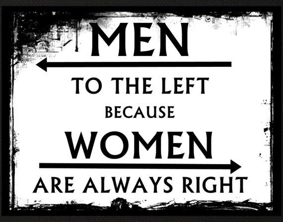 Bathroom Signs Restaurant funny bathroom sign women always right poster nasty lady