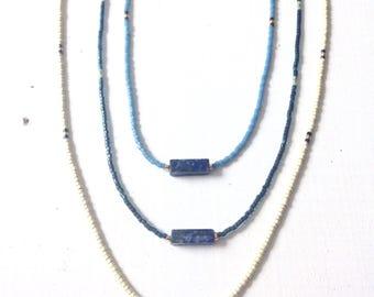 Necklace lapis lazuli miyukis man