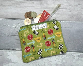 Coin purse, boy gifts, cars, automobiles, road signals, children, pocket money, money, bank cards, wallet,