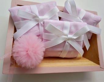 Girls pink polka dot favor box