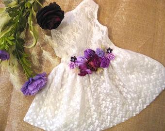 Purple dog dress | The Wilomena | Wedding or dog birthday | Purple wedding | XS S M L