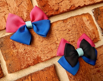 Snow Princess Basic or Deluxe Boutique Hair Bow - 3-1/2 inch Alligator Clip Single or Stacked Bow