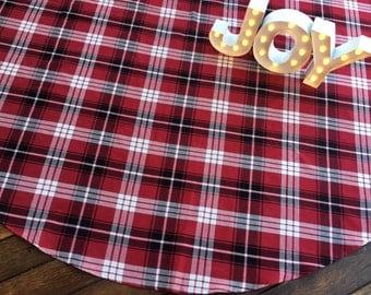 large christmas tree skirt 68 plaid red tree skirt tartan tree skirt - Large Christmas Tree Skirt
