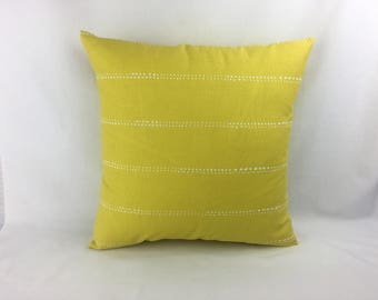 Pillow Covers 18 x 18 - Yellow Couch Pillow Cover - Decorative Sofa Pillows