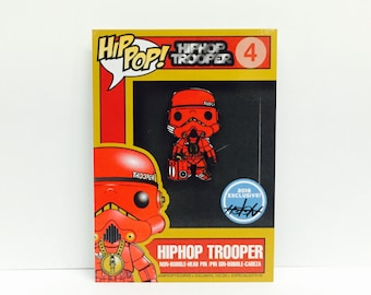 Hip Pop! Trooper Enamel Pin! Allways Holdn variant card edition of 65!