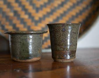 Set of Studio Pottery Mini Cups