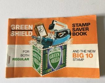 Vintage Green Shield Stamp Saver Book UK Vintage Emphemera