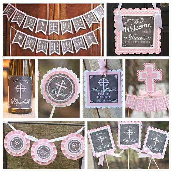 Baptism Ornaments Christening Christmas Ornaments: FIRST COMMUNION PACKAGE. Baptism Decorations. First