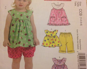 New McCall's  Toddlers Top, Dresses, Shorts & Pants.