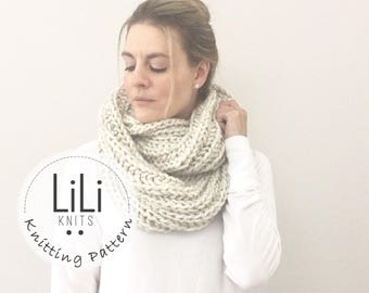 Pattern | LiLiKnits Chunky Knit Brioche Infinity Scarf | Instant Download