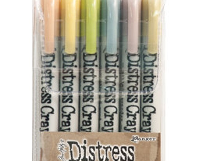 Ranger Tim Holtz Distress Crayons - Set # 8 - Water Reactive Pigments