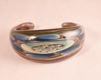 Hand Blown Glass Cuff Bracelet