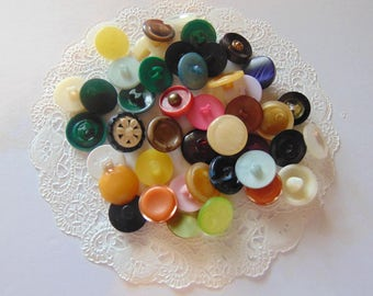 Vintage Colorful Button Lot Vintage Buttons