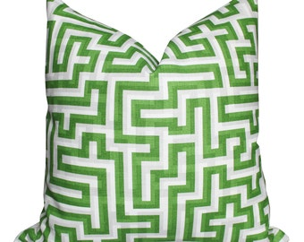 Christopher Farr Meander Pillow Cover in Green