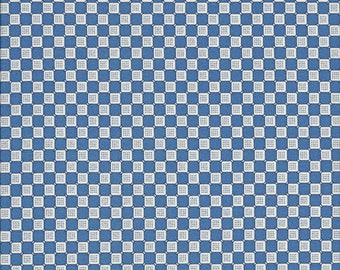 Blueberry Check, 100% Cotton Fabric Sold by Half Yard (24360)