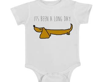 dachshund onesie, weiner dog onesie, dog onesie, baby onesie, newborn onesie, funny onesie