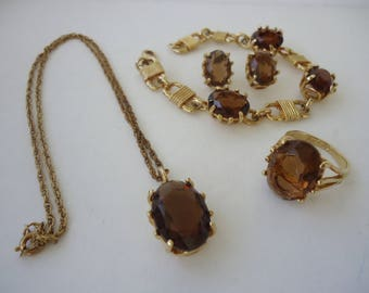 Smoky Quartz Jewelry Set