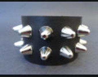 Bracelets Cuffs Black Leather Restraint Bracelets Studs
