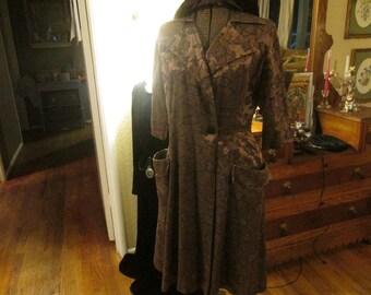 """Vintage hostess jacket """"Lazy U"""""""