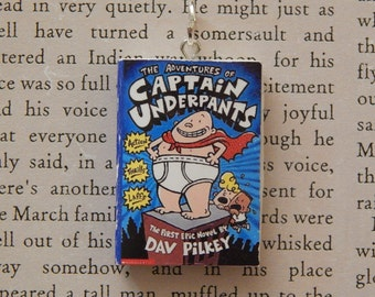 Captain Underpants Book Necklace, Brooche, or Keychain