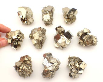 "ONE Pyrite cluster from Peru - 30-40mm or appx. 1.5"" / appx. 60gm each - natural raw stone crystal specimen"