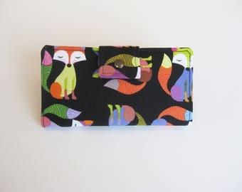 Fox Wallet, Handmade Womens Wallet,  Bi Fold  Wallet,