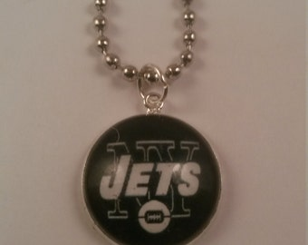 Sports Football Jets Handmade Charm Necklace
