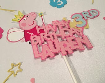 Peppa Pig Birthday Cake Topper, Peppa Pig Centerpiece, Cake Topper, Peppa Pig Birthday Banner, Peppa Pig Birthday,