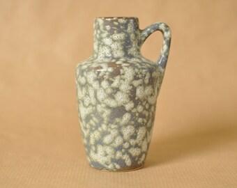 Gray Scheurich jug - West German pottery - 405 - vintage grey Fat Lava vase