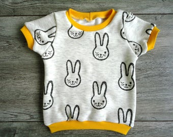 Cool t-shirt with rabbits