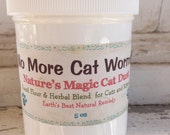 No More Cat Worms 100% Organic & Natural Cat Wormer and Wellness Powder