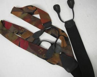 Silk Suspenders Hipster Suspenders Braces German Suspenders