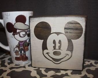 Mickey Mouse Home Decor / Coaster | Disney Coaster / Sign / Decoration –Mickey Face –Disney Home Decor / Sign