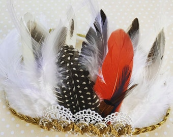 The Annabella feather crown