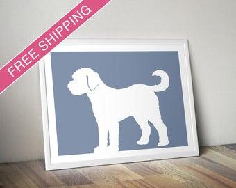 Goldendoodle Print - Goldendoodle Silhouette - Goldendoodle art, dog wall art, dog gift