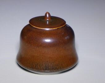 Porcelain temple bell jar, harefur glaze (varous sizes)