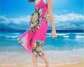 Summer Outdoors Pink Swim Dress Swimsuit Cover Ups Pareo Mint Beach Wrap Swim Sarongs Beach Cover Ups  Pareos beach dress  bikini cover up