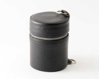 Vintage Small / Medium Black Hard Lens Case VGC
