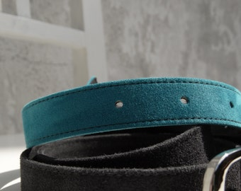 Suede Slim Belt/READY TO SHIP