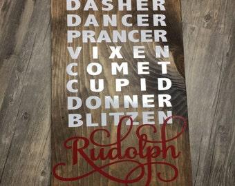 Santa's Reindeer Sign