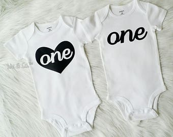 Twin Baby Clothes, Twin Birthday Shirts, Boy Girl Twin First Birthday, 1st Birthday Outfits, Birthday Boy, Birthday Girl, © Liv & Co.™