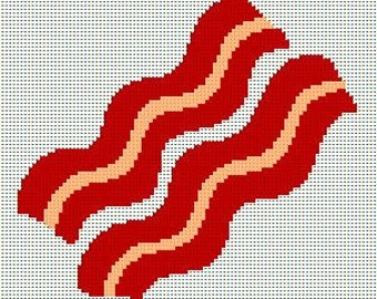 Bacon Strips -  Crochet Afghan Blanket Pattern Graphghan